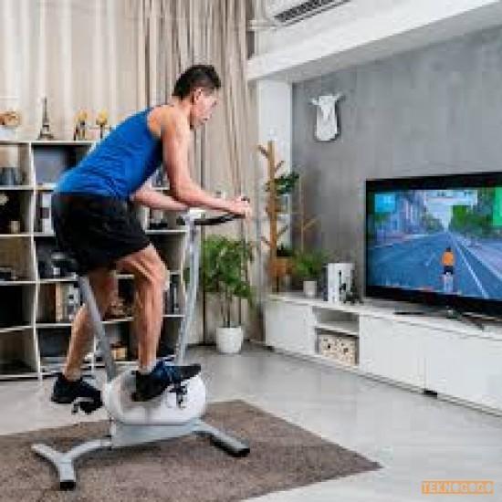 NEXGIM AI Egzersiz Bisikleti  - Eğlenceli Eğitim  ve Oyun İçeriği ile Akıllı Spor Bisikleti  - Hafif  - Alan Tasarruflu